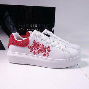 Skechers High Street Studs N Roses Leather Sneaker